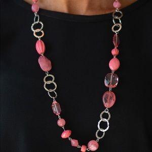 Prismatic Paradise pink necklace